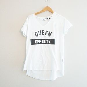 Queen Off Duty Laundry Room V Tee by Adelaide Kane
